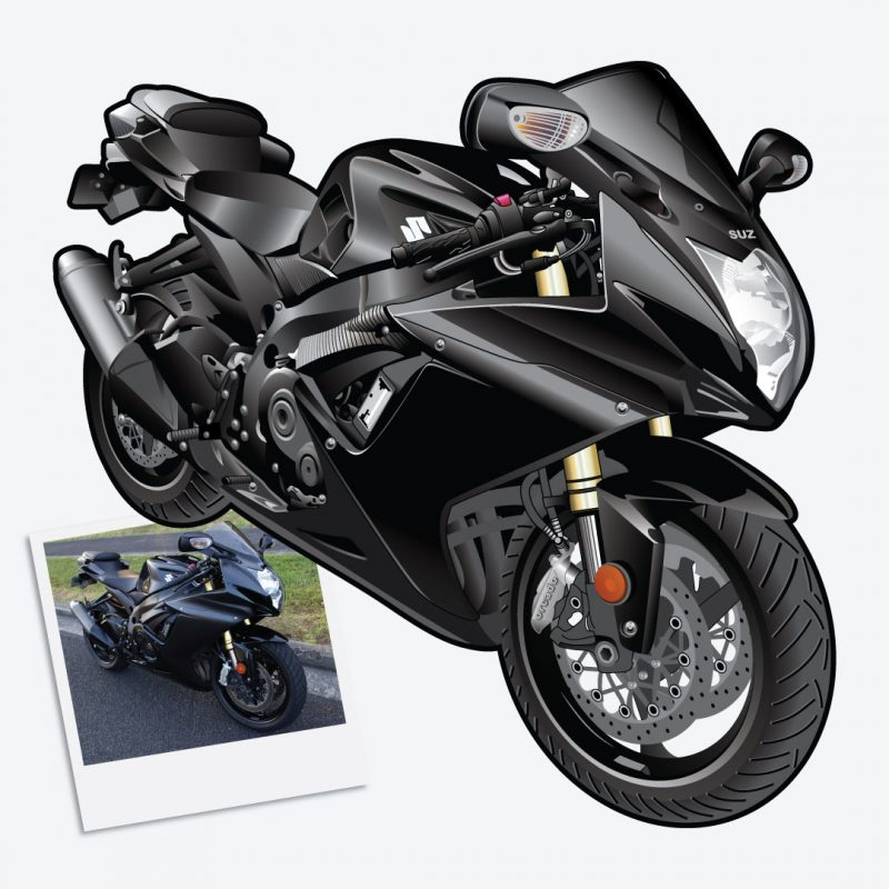 Digital Drawing of Suzuki GSXR 750
