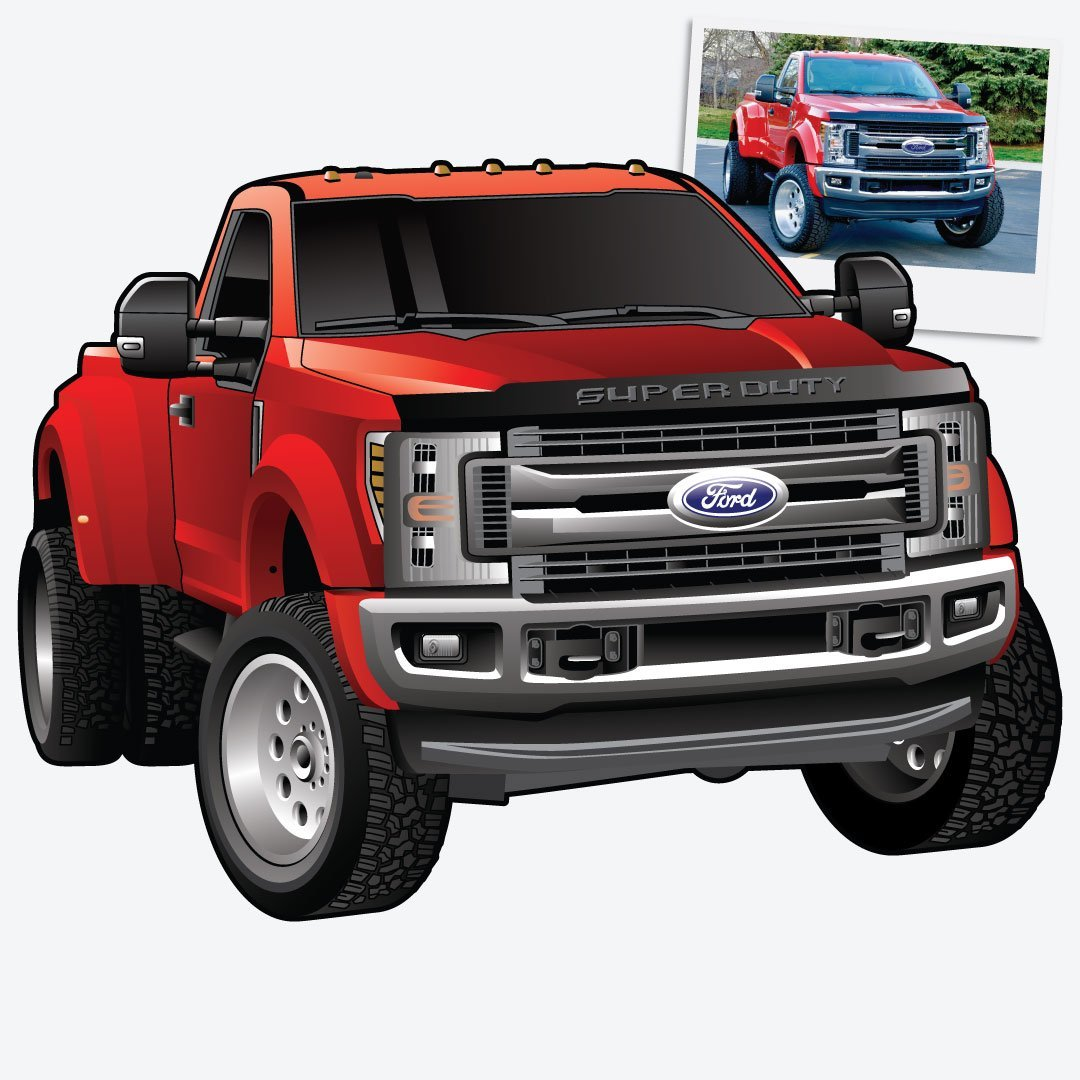 Digital Drawing of Ford Super Duty Truck