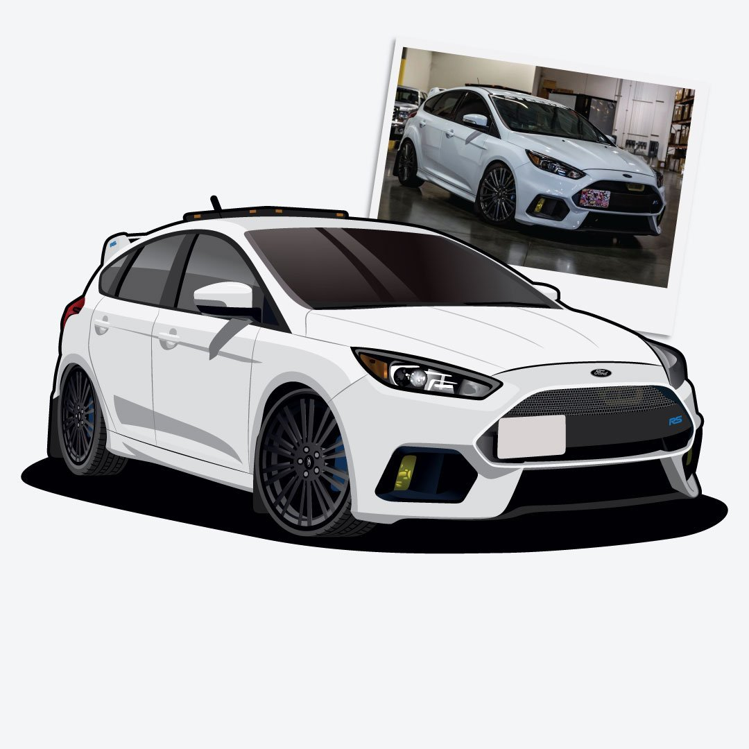 Digital Drawing of Ford Focus RS