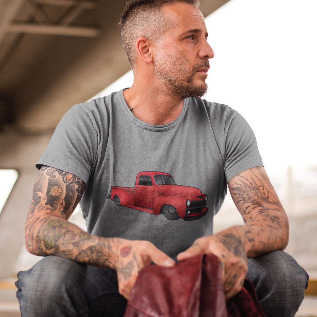 Custom Digital Drawing T-Shirt of Chevy Pickup