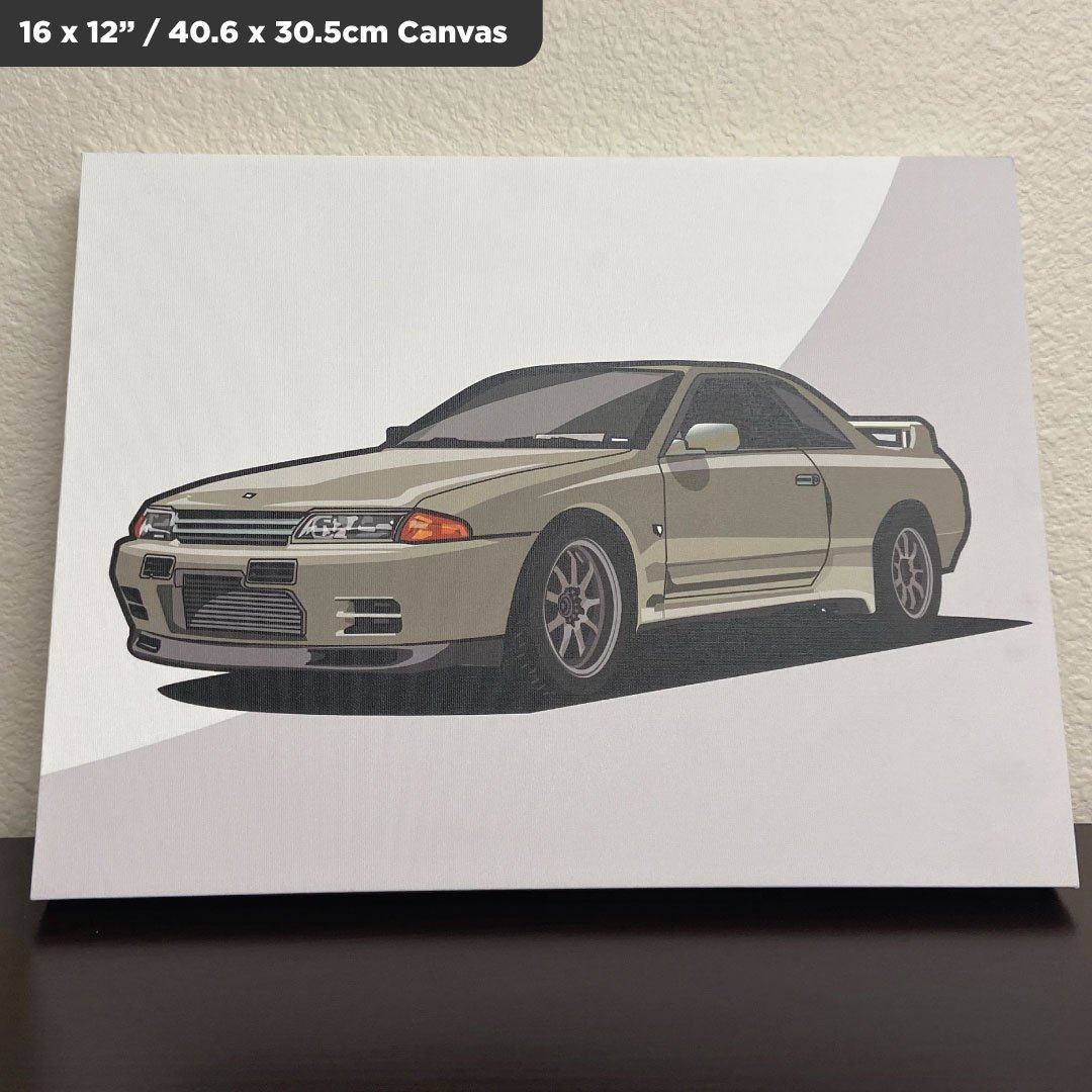 Custom Digital Drawing Canvas of Nissan Skyline GTR